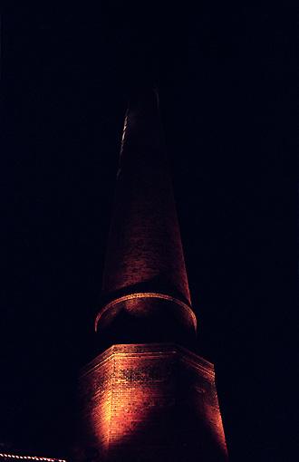 ビアガーデンの煙突