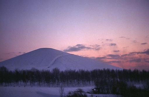 モエレ山の夕焼け