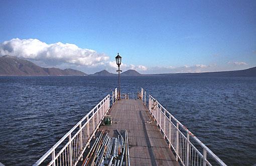 支笏湖の桟橋
